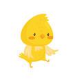 cute chicken cartoon character vector image vector image