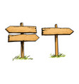 double and single direction signs vector image vector image