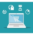 e- commerce shopping card delivery icons design vector image vector image