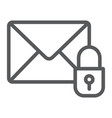 email protection line icon mail and security vector image vector image