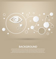 eye tears icon on a brown background with elegant vector image vector image