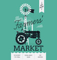 Farming Poster vector image vector image