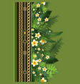 fashion greenery print vector image vector image