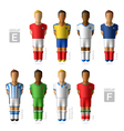 Footballers soccer players Brazil 2014 vector image vector image