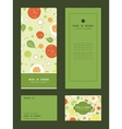 fresh salad vertical frame pattern invitation vector image vector image