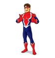 friendly superhero thumb up vector image vector image