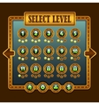 Game steampunk level selection icons vector image vector image