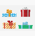 gift boxes flat design vector image
