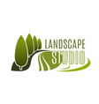 green landscape design studio icon vector image vector image