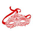 hand drawn carnival mask vector image