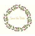 Hand drawn wreath invitation card vector image vector image
