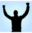 happy young man silhouette vector image vector image