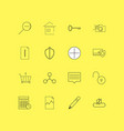 internet of things linear icon set simple outline vector image vector image