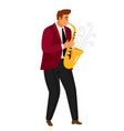 jazz music saxophonist player vector image vector image