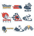 karting club or kart races sport competition vector image vector image