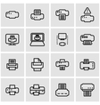 line printer icon set vector image