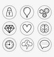 line set icon mental health vector image