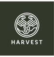 Logo outline horticulture crop plant soil style vector image vector image
