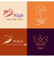 Logo template yoga studio Image design for vector image vector image