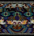 mosaic art pattern wavy shapes seamless vector image vector image
