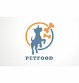 pet food care bone logo store shop vector image