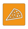 pizza fast food emblem icon vector image vector image