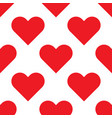 red hearts seamless background pattern vector image vector image