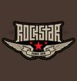 rock star - patch with stitching rockstar vector image vector image