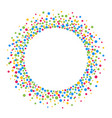 round frame with colorful confetti circles vector image