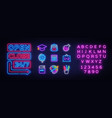 school icons set back to school collection neon vector image