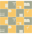 seamless background with furniture vector image vector image