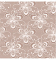 Seamless floral lacy background vector image