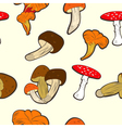 seamless wallpaper with mushrooms vector image vector image