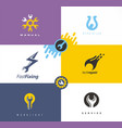 service and repair logo desig logo design concepts vector image