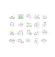 set linear icons taxi services vector image vector image