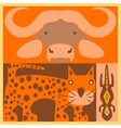set of African animals vector image vector image