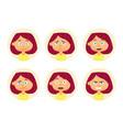 set woman emotions facial expression girl vector image