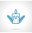 Simple blue line candle icon vector image vector image