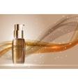 Skin Toner Bottle Template for Ads or Magazine vector image vector image