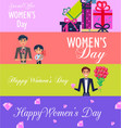 special offer for happy womens day vector image