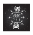 Spooky party on chalkboard background vector image