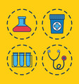 sthetoscope and medical related icons vector image vector image