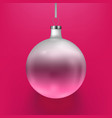 stock christmas ball two vector image