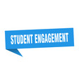 student engagement speech bubble student vector image vector image