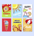 summer card set vector image vector image