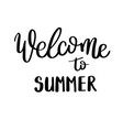 summer quote handwritten for holiday greeting vector image vector image