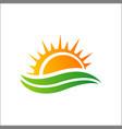 sun logo icon template vector image vector image
