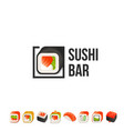 sushi and roll logo template japanese vector image vector image