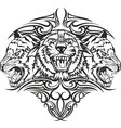 tiger with patterns vector image vector image