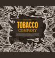 tobacco and smoking sketch background vector image